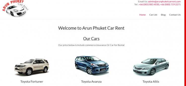 Our New Website -rental car phuket airport
